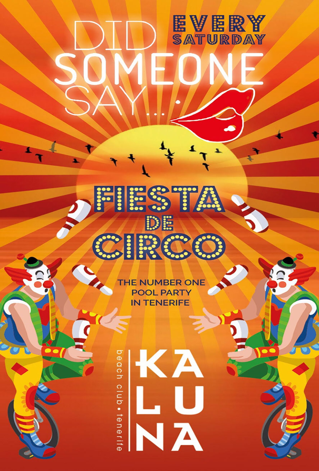Fiesta de Circo Saturday Nights at Kaluna Beach Club Tenerife